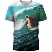 Men's Surf's Up Jesus Cotton T-shirt