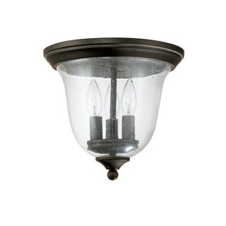 Capital Lighting Traditional 3-light Old Bronze Flush Outdoor Light