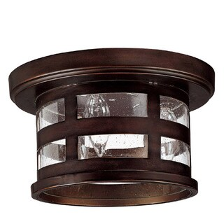 Capital Lighting Mission Hills Collection 3-light Burnished Bronze Flush Outdoor Light