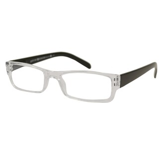 Gabriel + Simone Men's/ Unisex Renne Rectangular Reading Glasses - Black