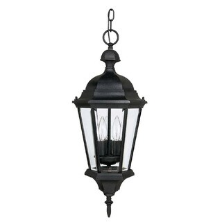 Capital Lighting Carraige House Collection 3-light Black Hanging Outdoor Lantern
