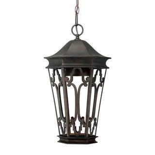 Capital Lighting Dark Sky Collection 1-light Old Bronze Hanging Outdoor Lantern