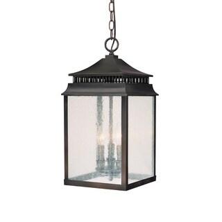 Capital Lighting Sutter Creek Collection 3-light Old Bronze Hanging Outdoor Lantern