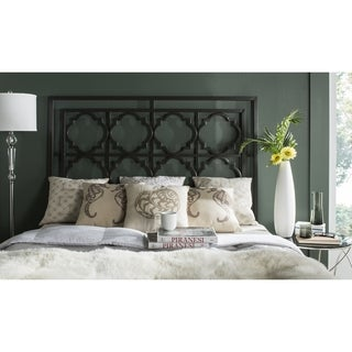 Safavieh Silva Black Metal Geometric Headboard (Full)