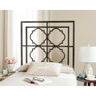 Safavieh Silva Black Metal Geometric Headboard (Twin)