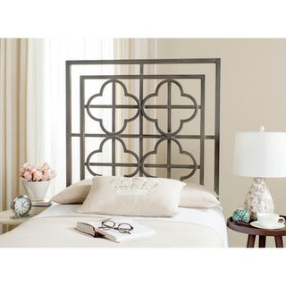 Safavieh Lucina French Antique Iron Metal Quatrefoil Headboard (Twin)