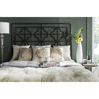 Safavieh Lucina French Gunmetal Quatrefoil Headboard (Full)