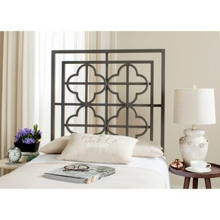 Safavieh Lucina French Gunmetal Quatrefoil Headboard (Twin)