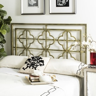 Safavieh Lucina French Silver Metal Quatrefoil Headboard (Queen)