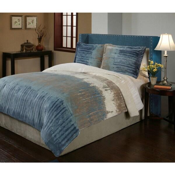 Bentley Velvet Plush Print 3-piece Comforter Set
