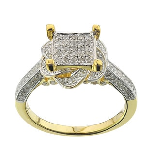 10k Yellow Gold 5/8ct TDW Diamond Ring (G-H , I2-I3)