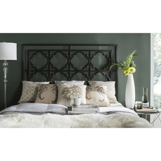 Safavieh Silva Black Metal Geometric Headboard (Queen)