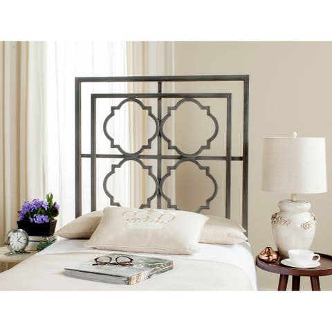 Safavieh Silva Antique Iron Metal Geometric Headboard (Twin)