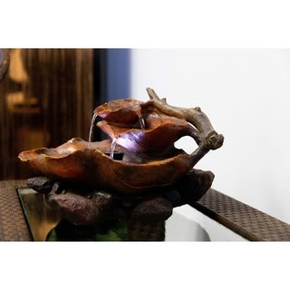 ALP-WIN622 Fountain with White LED Lights
