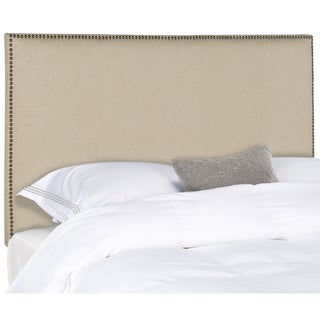 Safavieh Sydney Hemp Linen Upholstered Headboard - Brass Nailhead (Full)