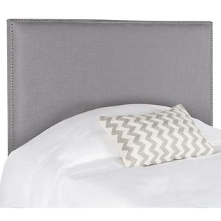 Safavieh Sydney Artic Grey Upholstered Headboard - Silver Nailhead (Full)