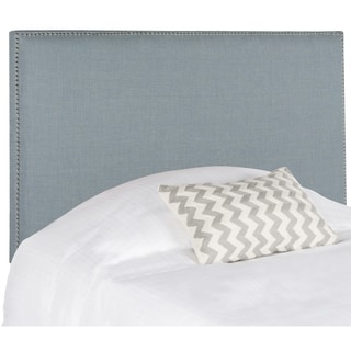 Safavieh Sydney Sky Blue Upholstered Headboard - Silver Nailhead (Full)
