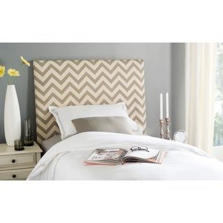 Safavieh Ziggy Grey/ Off-white Upholstered Chevron Headboard (Twin)