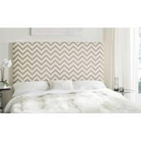 Safavieh Ziggy Grey/ White Upholstered Chevron Headboard (Full)