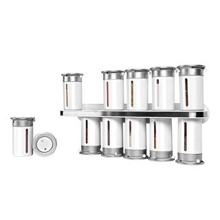 Zero Gravity Wall-Mount Magnetic Spice Rack in White