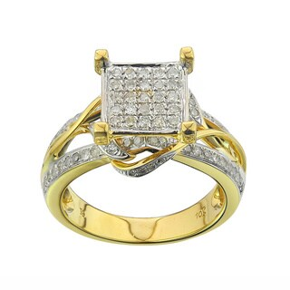 10k Yellow Gold 1/2ct TDW Diamond Engagement Ring