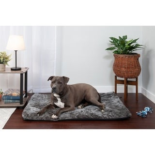 FurHaven Weather-resistant Orthopedic Crate and Kennel Mattress with Quilted Plush Top