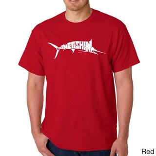 Los Angeles Pop Art Men's Gone Fishin' Marlin T-Shirt