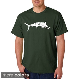 Los Angeles Pop Art Men's Gone Fishin' Marlin T-Shirt