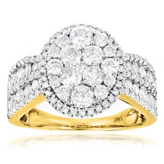 Luxurman 14k Yellow Gold 2 3/5ct TDW Diamond Engagement Ring (3 options available)
