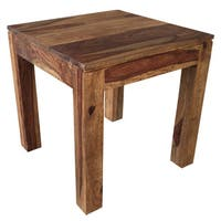 Idris Dark Sheesham Solid Wood Accent Table