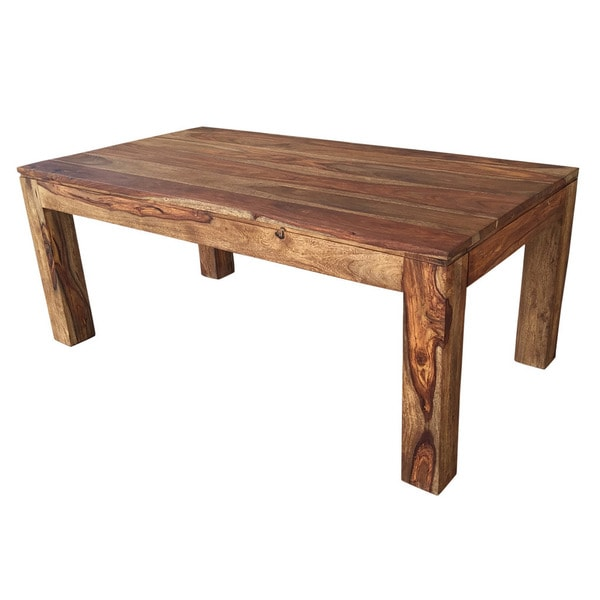 Solid Wood Coffee And End Tables For Sale: Shop Idris Dark Sheesham Solid Wood Coffee Table