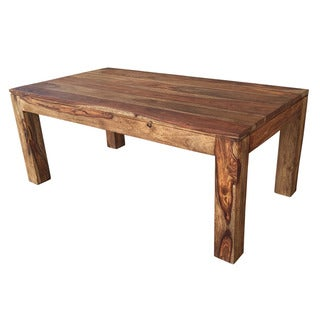 Idris Dark Sheesham Solid Wood Coffee Table