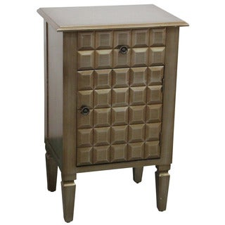 Monroe Champagne 1-drawer/ door Accent Table