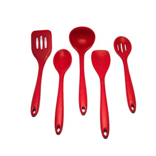 Red 5-piece Silicone Kitchen Utensil Set