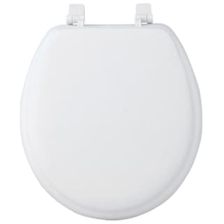 17-inch Round Soft Cushion White Toilet Seat