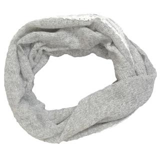 LA77 Grey Solid Lace Infinity Scarf