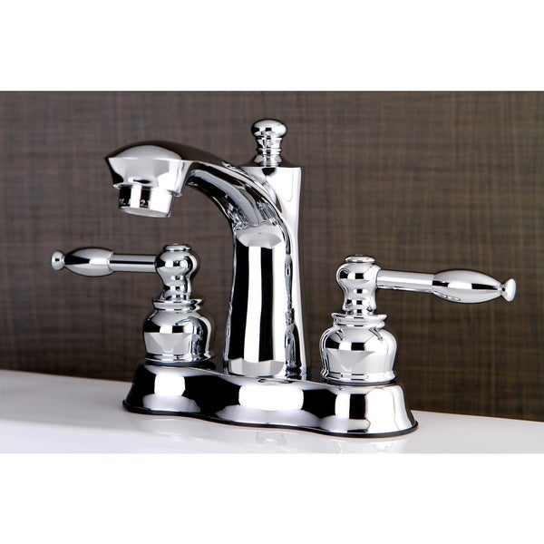 Shop Knight Handles Chrome 4 Inch Center Bathroom Faucet Free Shipping Today