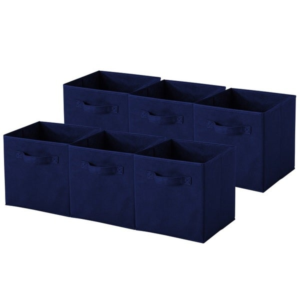 shop navy blue collapsible storage cubes pack of 6 free shipping on orders over 45. Black Bedroom Furniture Sets. Home Design Ideas