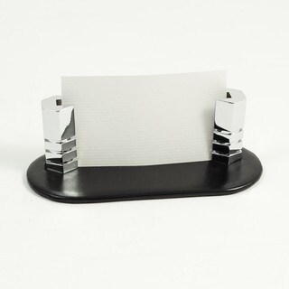 Black Leather Business Card Holder