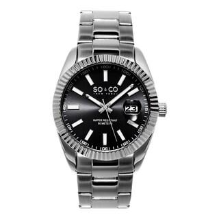 SO&CO New York Men's Madison Quartz Stainless Steel Bracelet Watch