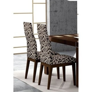 Luca Home Dining Chairs Wenge (Set of 2)