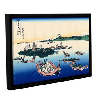 ArtWall Katsushika Hokusai 'Tsukuda Island In Musashi Province' Gallery-wrapped Floater-framed Canva