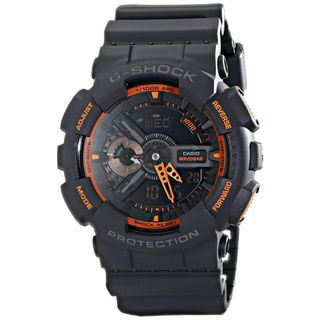Casio Men's GA-110TS-1A4CR 'G-Shock' Black Resin Watch