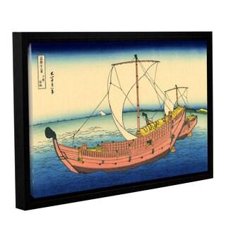 ArtWall Katsushika Hokusai 'The Kazusa Province Sea Route' Gallery-wrapped Floater-framed Canvas