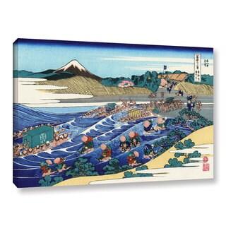 ArtWall Katsushika Hokusai 'The Fuji From Kanaya On The Tokaido' Gallery-wrapped Canvas - Multi