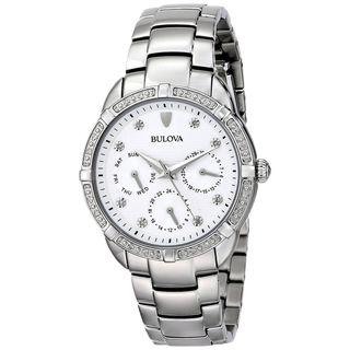 Bulova Women's 96R195 'Classic' Chronograph Diamond Stainless Steel Watch