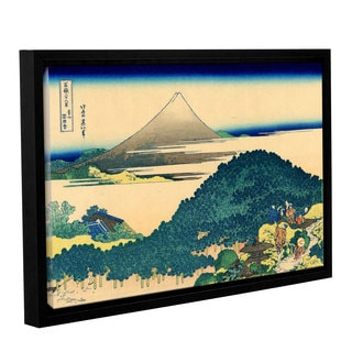 ArtWall Katsushika Hokusai 'The Coast Of Seven Leages In Kamajura' Gallery-wrapped Floater-framed Canvas