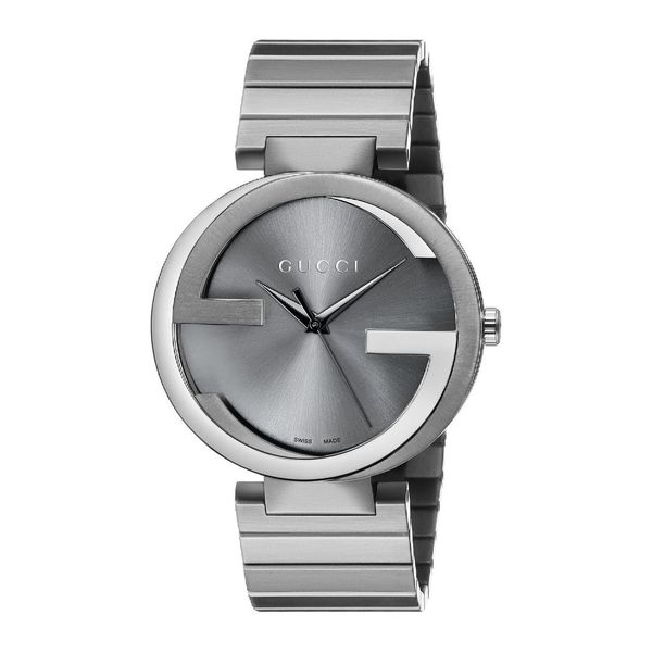 ace596eb109 Shop Gucci Men s YA133210  Interlocking G  Grey Stainless Steel Watch -  Free Shipping Today - Overstock - 10329664