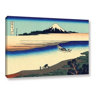 ArtWall Katsushika Hokusai 'Tama River In The Province Of Misushi' Gallery-wrapped Canvas