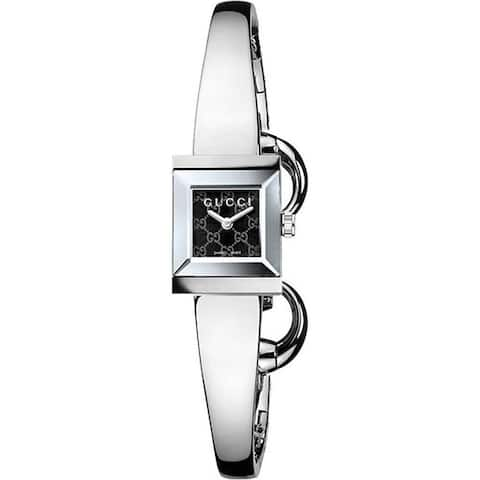 Gucci Women's YA128512 'G Frame' Stainless Steel Watch
